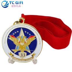 La Chine de gros de cou en alliage de zinc ruban personnalisé nous les détenteurs de la médaille d'honneur le sport scolaire produits Art métal Sport olympique de volley-ball médaillon adultes gagnant