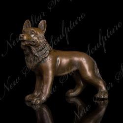 ホーム装飾のための青銅色犬の彫刻の青銅の動物の青銅色の彫像