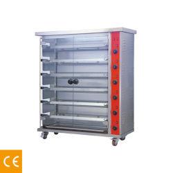 6 Rod-elektrischer Huhnrotisserie-Braten-Ofen mit Rädern