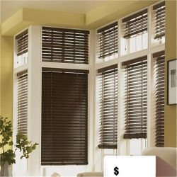 Venta caliente ciego cortina de bambú de persiana veneciana persiana de madera de tamaño para el cliente.