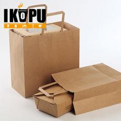 Eco friendly bolsa de papel kraft para pan y de compras la bolsa de comida para llevar