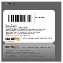 PVC RFID Smart VIP carta di credito dimensione vuota Hico PVC Scheda vuota con scheda a banda magnetica IC chip