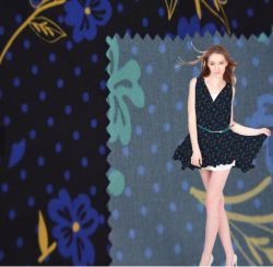 Tissu personnalisé de l'impression de la Malaisie comme l'impression numérique de la soie100%mousseline de soie polyester Tissu imprimé