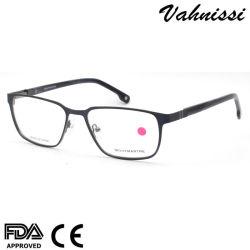 Rectángulo de metal flexible Mens Cadin gafas Gafas de óptica del bastidor Farme