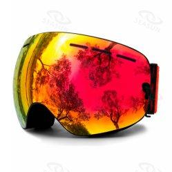OEM van de fabriek de In het groot Beschermende brillen van de Ski van Glazen Snowboard OpenluchtSporten Weerspiegelde