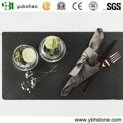 Unique ardósia negra para prato de cozinha/Pedras naturais de cozinha
