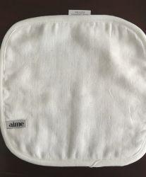 Algodón orgánico suave de limpieza de doble cara de muselina de toalla de tela