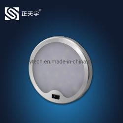 Montage en surface ronde avec l'aimant DC 12V du capteur de mouvement à la main palet de LED Spotlight pour les meubles/armoire/compteur