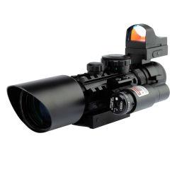3-10X40 라이플 스코프 사이트 레드 도트 사이트 레이저 포인터 리프레스코프