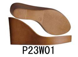 Shoe Sole PU Sole (P23W01) der Keil-Ferse-alleiniger Absatz-alleinigen Dame