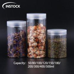 卸売はプラスチック50/80/100/120/150/180/200/250/300/400/500のMlのペットびんの透過カバーが付いている食糧缶を震動させる