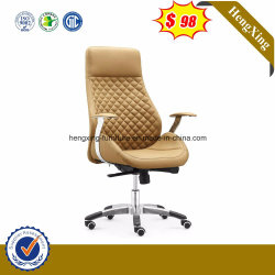 Mobilier de bureau élégant en aluminium Directeur du bras de chaise de bureau en cuir