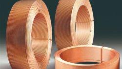 Waagerecht ausgerichtete Wundring-Kupfer-Rohr-kupfernes Gefäß Lwc Pfannkuchen-Ring-Abkühlung-Rohrleitung