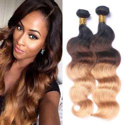 Kbeth Ombre الشعر بكرة لسيدات الأسود 2021 الموضة 11 ألف مخصص قبول 613 براون ثنائي النغمة 18بوصة هيئة الموجة البشرية حزم الشعر جاهزة للشحن