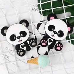 Corrente de chupeta bebê cordões molar de silicone JUNTA DE SILICONE Panda Mordedor Dente de brinquedos a cadeia de gel