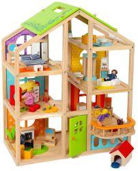Giocattolo di legno del nuovo di disegno di bambola della Camera gioco di scena