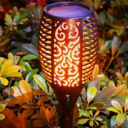 la torcia romantica impermeabile di effetto di luce intermittente della lampada solare della fiamma di 3W LED illumina la decorazione esterna dell'interno IP65 6V del giardino del prato inglese delle lampadine del fuoco del LED