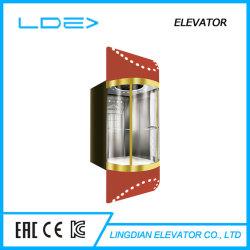 Ascensor Panorámico Elevador de Observación con Espejo con Puerta de Vídrio