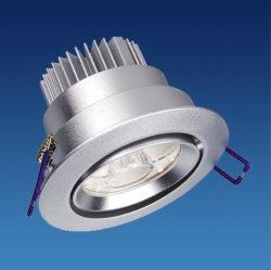 Для использования внутри помещений потолочный светильник с алюминиевым корпусом и 3 x 1 Вт/3 x 3 Вт