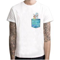 Мужчин Tshirt смешные Pocket напечатано T кофта консервированием Movie ТВ аниме футболку мужской хип-хоп 2020 Camisetas оптовая торговля