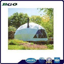 قبّة واضحة بلاستيكيّة يخيّم خيمة جيوديسيّة بيتيّة