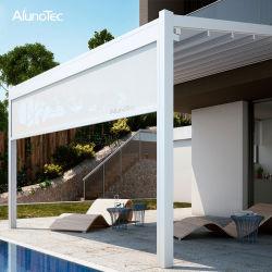 철회 가능한 지붕 시스템 안뜰 차일을 접히는 주문을 받아서 만들어진 자동적인 금속