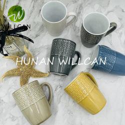 350ml/12oz Reactive Color 글레이즈 세라믹 머그컵/커피 머그컵 맞춤 디자인 및 컬러