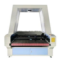 صينية ثاني أكسيد الكربون كاميرا مزدوجة الرأس CCD تغذية تلقائية سطح الطاولة ماكينة قص وتحف بالليزر للصوف المكب المصنوع من الجلد القماشي شعر