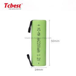 Лучшая цена согласиться с OEM-Plat верхней части AA NiMH аккумулятор 2200 Мач, 1,2 В с припоя Tab для электронных игрушек и аккумулятора