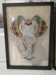 Accueil décoration murale Art pendaison Cloisonne Handemade cadeau de peinture de l'éléphant