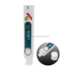 El embalaje personalizado de plástico aluminio personalizado apriete el tubo de pasta de dientes