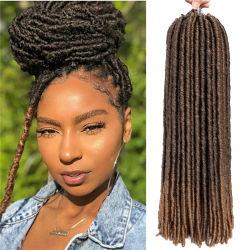 "Cores de várias fibras direitas Deusa Faux Locs Crochê Entrelaçando Hair 14"" 18"" 20"""