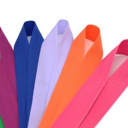 Glattes einzelnes gegenübergestelltes Polyester-Zoll gedrucktes Satin-Farbband mit Firmenzeichen für das Geschenk-Verpackungs-Kleiden