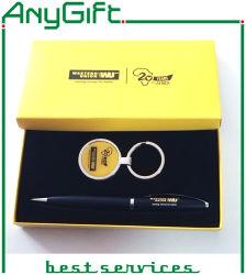قلم وحلقة تثبيت مجموعة مع صنع وفقا لطلب الزّبون علامة تجاريّة