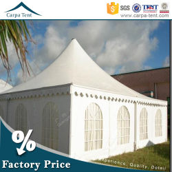 8m x 8m Cone Shaped Opaque PVC Large Pagoda Tents mit Window Walls