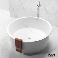 Kkr Surface solide socle Baignoire Salle de bains moderne Santiary Ware ovale de gros de la pierre artificielle Freetanding résine baignoire d'angle