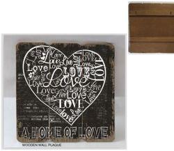 Elegante guarnición de madera marca de placa de madera Home/tema de la decoración de la serie de Amor