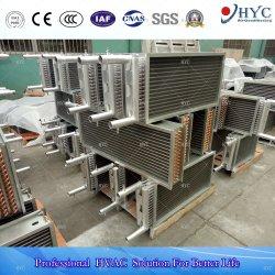 Échangeur de chaleur de bobine en aluminium à ailettes de tube de cuivre à haute efficacité