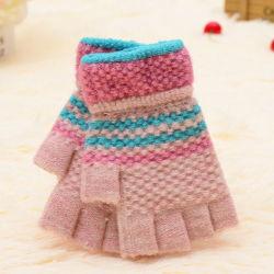 Mode Femmes Hiver Sport de plein air chaud Fingerless Gants tricotés
