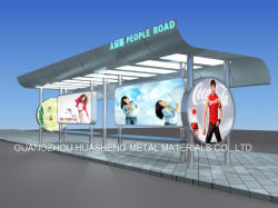 Остановка автобуса из нержавеющей стали жилье (HS-BS-A003)