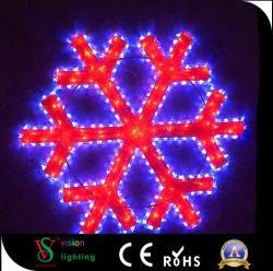 Motif de l'éclairage à LED de plein air Flocons de neige à LED blanche