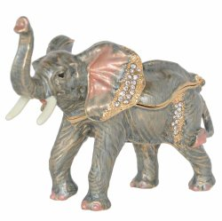 Emaillierter Elefant-Trinket-u. Schmucksache-Kasten-Elefant-Figürchen-sammelbarer Neuheit-Geschenk-Halsketten-Halter-Ring-Behälter