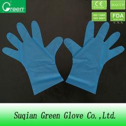 Одноразовые голубого цвета PE/TPE/CPE защитные перчатки