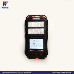 6-en-1 portátil Detector de Gas la detección de monóxido de carbono, dióxido de azufre y óxidos de nitrógeno gases tóxicos, etc.
