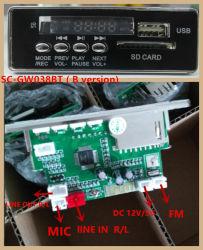 De digitale AudioMP3 Module van de Speler met Verre Controlemechanisme/Bluetooth /SD /USB - Zwarte