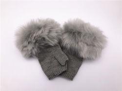 women Fur 새로운 도착 뜨개질을 하는 숙녀 형식 아크릴 니트 장갑