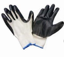Fr388 Palm Polyester enduit à base de nitrile doublure Gant de sécurité au travail industriel