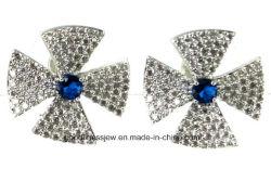Conception spéciale et la mode féminine Earrings Rhinestone verre gris métal doux de résine noire avec des pierres précieuses de l'oreille Stud Earrings pour les femmes filles E6310