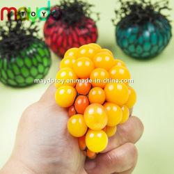 Novidade Anti Stress Squishy Malha Brinquedos de alívio de uvas squeeze ball