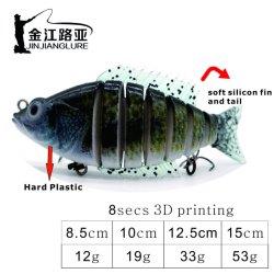 Js-15 appâts artificiels en plastique du disque Bass Fishing Lure Lure de transmission d'appâts de pêche